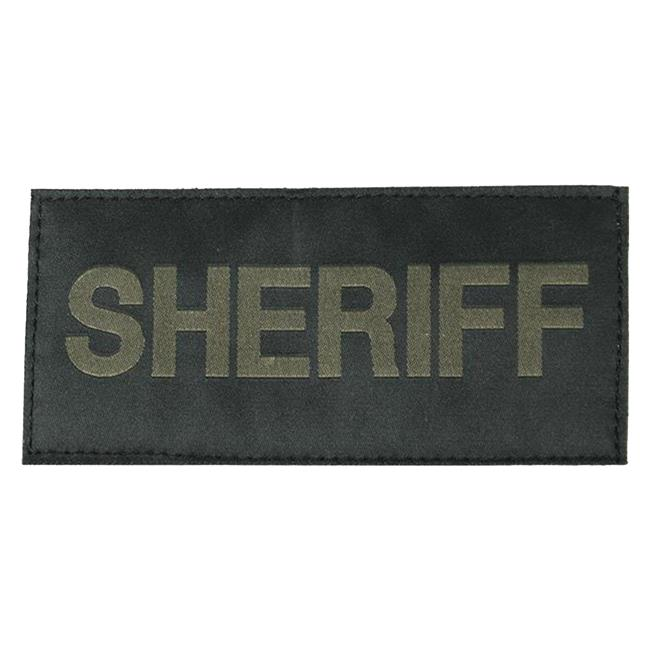 Blackhawk Sheriff Patch Green on Black