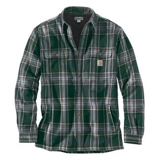 Carhartt Hubbard Sherpa Lined Shirt Jac Canopy Green