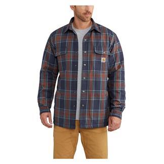 Carhartt Hubbard Sherpa Lined Shirt Jac Navy