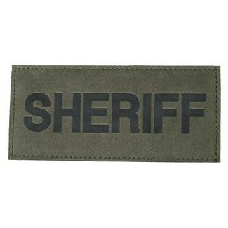 Blackhawk Sheriff Patch Black on Green