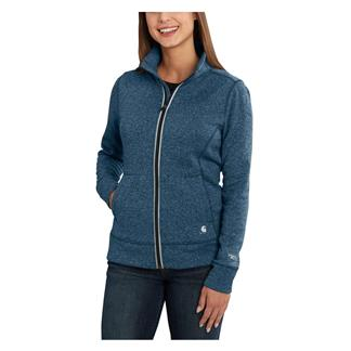 Carhartt Force Extremes Zip Front Sweatshirt Dark Stream Heather