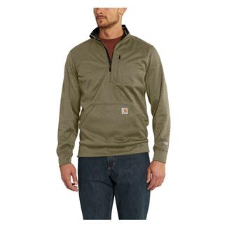 Carhartt Force Extremes 1/2 Zip Sweatshirt Burnt Olive Heather
