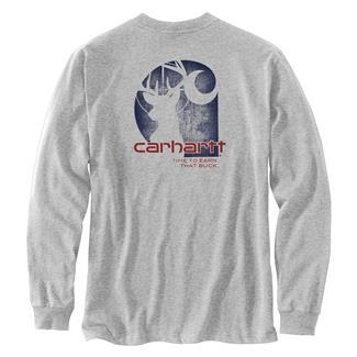 Carhartt Workwear Earn that Buck Long Sleeve T-Shirt Heather Gray