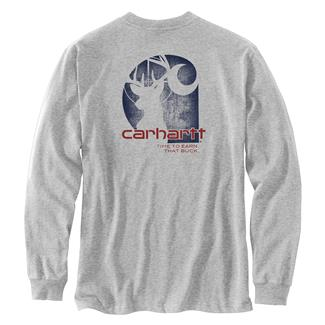 Carhartt Workwear Earn that Buck Long Sleeve T-Shirt Heather Gray