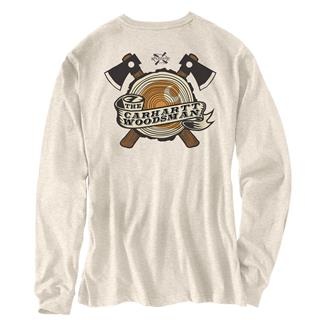 Carhartt Maddock Woodsman Long Sleeve T-Shirt Oatmean Heather