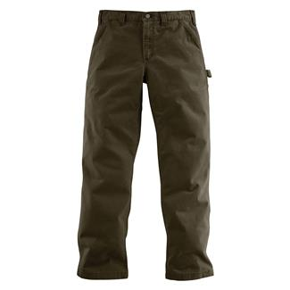 Carhartt Washed Twill Dungaree Pants Dark Coffee