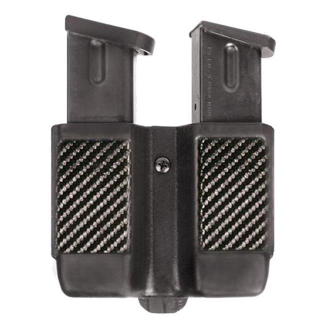 Blackhawk Single Stack Double Mag Case Carbon Fiber Black