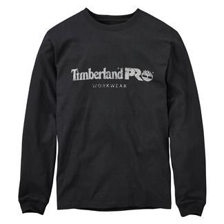 Timberland PRO Cotton Core Long Sleeve T-Shirt Jet Black