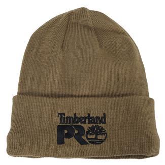 Timberland PRO Fleece Lined Rib Knit Watch Hat with Logo Dark Wheat