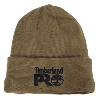 Timberland PRO Fleece Lined Rib Knit Watch Hat with Logo Dark Wheat