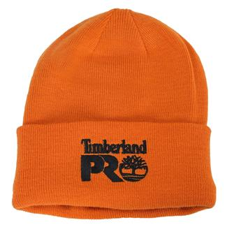 Timberland PRO Fleece Lined Rib Knit Watch Hat with Logo PRO Orange