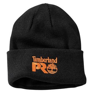 Timberland PRO Fleece Lined Rib Knit Watch Hat with Logo Jet Black
