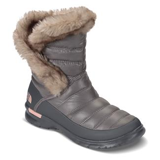 The North Face ThermoBall Microbaffle Bootie II Shiny Frost Gray / Evening Sand Pink