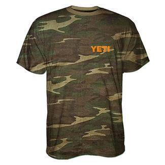 YETI Built For The Wild Camo T-Shirt Camo / Blaze Orange