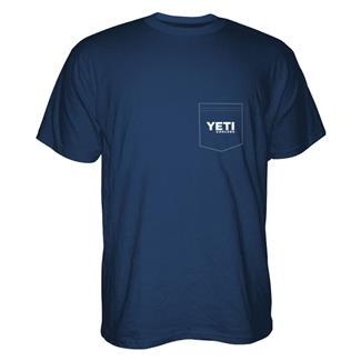 YETI Built For The Wild Pocket T-Shirt Navy / White / Gray