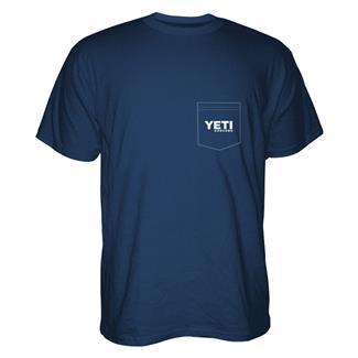 YETI Built For The Wild Pocket T-Shirt Navy / White / Gray