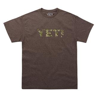 YETI Camo Logo T-Shirt Vintage Brown /  Camo