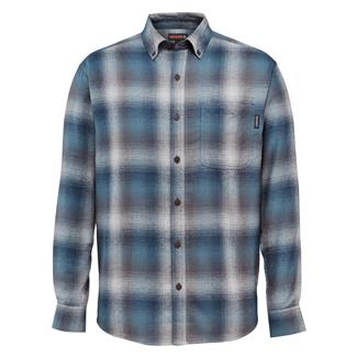 Wolverine Hammond Long Sleeve Flannel Shirt Navy Plaid