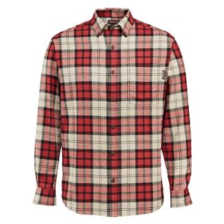 Wolverine Hammond Long Sleeve Flannel Shirt Red Plaid