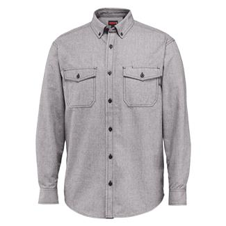 Wolverine Drummond Long Sleeve Flannel Shirt Gray