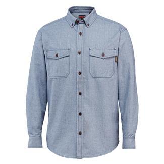 Wolverine Drummond Long Sleeve Flannel Shirt Blue