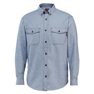 Wolverine Drummond Long Sleeve Flannel Shirt Blue