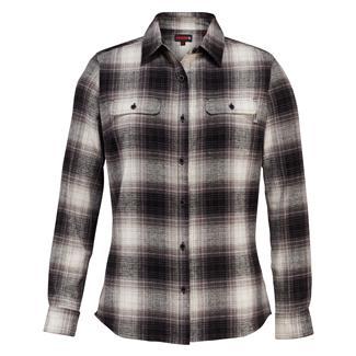 Wolverine Aurora Long Sleeve Flannel Shirt Black Plaid