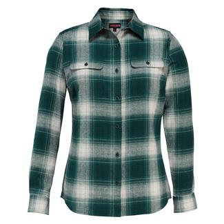 Wolverine Aurora Long Sleeve Flannel Shirt Jade Plaid