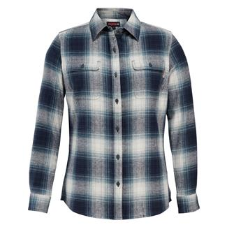 Wolverine Aurora Long Sleeve Flannel Shirt Midnight Plaid