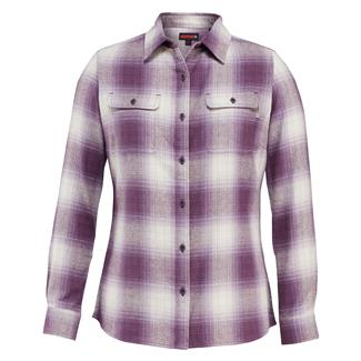 Wolverine Aurora Long Sleeve Flannel Shirt Eggplant Plaid