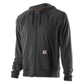 Carhartt Force Delmont Zip Front Hoodie Carbon Heather