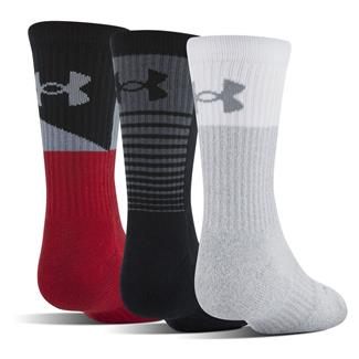 Under Armour Phenom 3.0 Socks - 3 Pack Red Assorted
