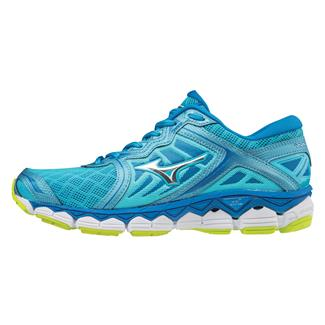 Mizuno Wave Sky Aquarius / Silver / Safety Yellow