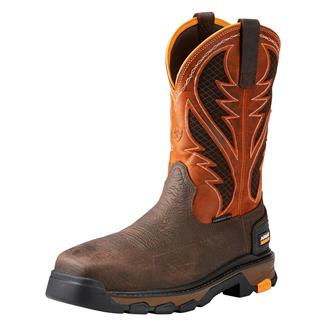 "Ariat 11"" Intrepid VentTek CT Bruin Brown / Sassy Orange"
