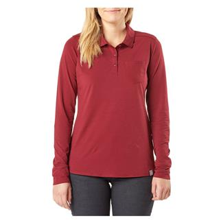 5.11 Enyo Long Sleeve Polo Code Red