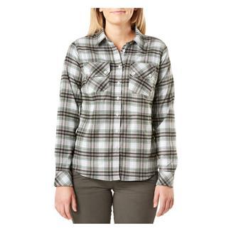 5.11 Hera Flannel Long Sleeve Shirt Thyme Plaid