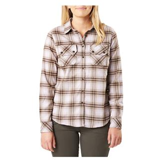5.11 Hera Flannel Long Sleeve Shirt Wisteria Plaid