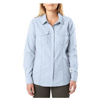5.11 Athena Long Sleeve Shirt Thyme Herringbone
