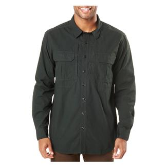 5.11 Expedition Long Sleeve Shirt Stone Wash Oil Green