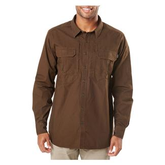 5.11 Expedition Long Sleeve Shirt Stone Wash Burnt