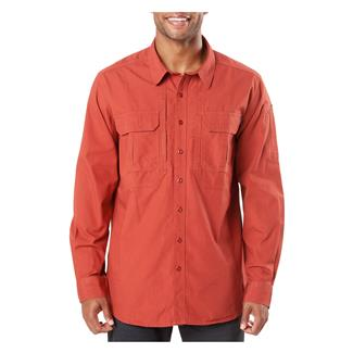 5.11 Expedition Long Sleeve Shirt Stone Wash Oxide Red