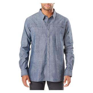 5.11 Rambbler Long Sleeve Shirt Stone Wash Indigo