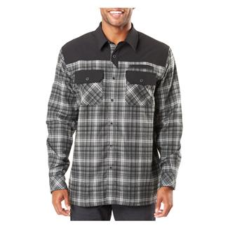5.11 Endeavor Long Sleeve Flannel Shirt Charcoal Plaid