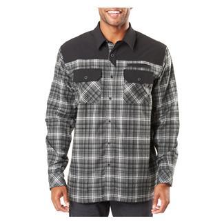 5.11 Endeavor Long Sleeve Flannel Shirt Charcoal Plaid