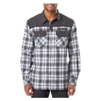 5.11 Endeavor Long Sleeve Flannel Shirt Battleship Plaid