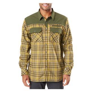 5.11 Endeavor Long Sleeve Flannel Shirt Kangaroo Plaid