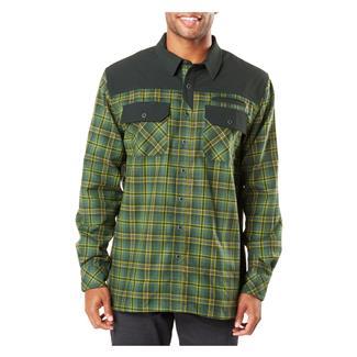 5.11 Endeavor Long Sleeve Flannel Shirt Thyme Plaid