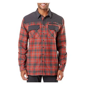 5.11 Endeavor Long Sleeve Flannel Shirt Oxide Rd Plaid