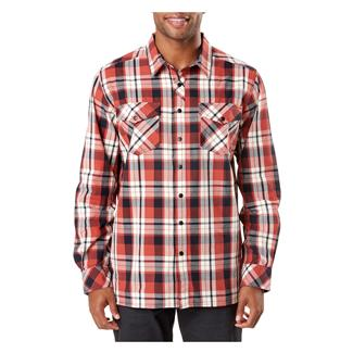 5.11 Peak Long Sleeve Shirt Oxide Rd Plaid