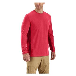 Carhartt Force Extremes Long Sleeve T-Shirt Light Crimson Heather / Dark Crimson